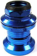"Aluminum alloy old school BMX bicycle headset 1"" threaded 32.5mm cups BLUE"