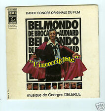 45 RPM SP GEORGES DELERUE JEAN PAUL BELMONDO L'INCORRIGIBLE