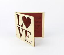 Laser Cut Wood Invitation card / Wedding Invitation / Baby Shower /Save The Date