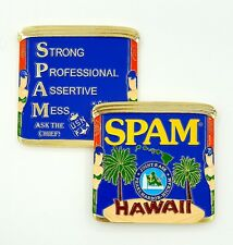 Navy Chief SPAM Joint Base Pearl Harbor Hickam Hawaii CPO Mess Challenge Coin!!