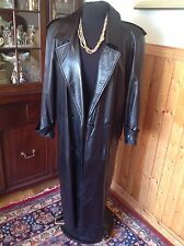 STYLISH SILKY SOFT LEATHER LONG COAT BY DANIER CANADA TAGGED SMALL ESTIMATED S M
