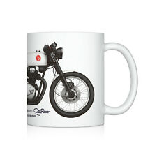 Honda CB350 cafe racer motorcycle illustration Coffee Mug