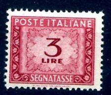 ITALIA 1947 - SEGNATASSE 3  Lire RUOTA NUOVO **