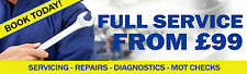 6FT X 2FT SERVICING BANNER with Custom Price *Diagnostics Tools Vauxhall*