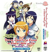 DVD Japan Anime Ore No Imouto ga Konna ni Kawaii Wake ga Nai Season 1+2 1-25 OVA