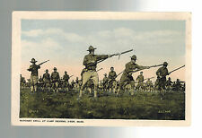 Mint WW 1 US Army Soldiers RPPC Postcard Bayonet Drill at Camp Devens Ayer MA