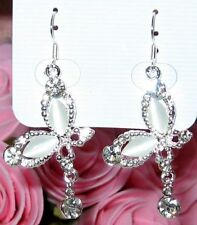 Girls/Ladies Crystal Butterflies Rhinestone Earrings new