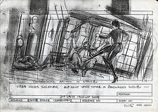 SUPERMAN II PRODUCTION STORY BOARD - URSA KICKS SOLDIER from Sarah Douglas