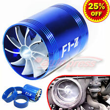 For MAZDA Supercharger COLD AIR INTAKE TURBO DUAL Gas Fuel Saver Fan BL 2.5-3.0""