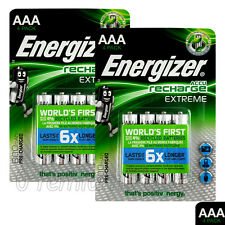 8 x Energizer Rechargeable AAA batteries Accu Recharge Extreme NiMH 800mAh HR03