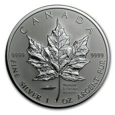 2005 Canada 1 oz Silver Maple Leaf VJ-Day Privy - SKU #35690