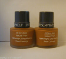 2 Prescriptives Makeup Foundation Natural Lightweight Sheer 18 Sable FULL SIZE
