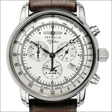 Graf Zeppelin Swiss Ronda Quartz Chronograph Watch with Alarm Function #7680-1