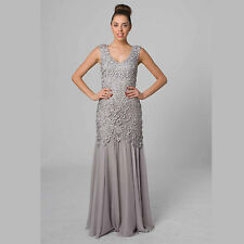 Flattering Formal Party Wedding Bridal Dress Silk/Lace Plus Size 18 Style E402