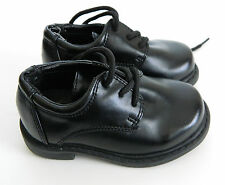 MINT HUSH PUPPIES BOY'S BLACK LACE OXFORD LEATHER SHOES SIZE 5M FORMAL, WEDDING