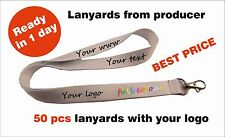 50 pcs Personalised lanyards with your logo, text, www Express and best time