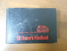 Saturn S-Series 1995 Owners manual