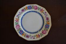 """LIMOGES patented depose bread plate 12 SIDES pink blue flowers 6.5""""  8 available"""