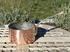 Dehillerin Hammered Copper 1.5 Qt Saucepan w/ tin lining, 2.2 mm, Made in France