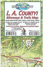 L.A. Los Angeles County Bikeways & Trails Waterproof Map by Frank Nielsen