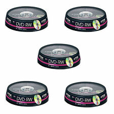 50 TDK  DVD-RW 4.7 GB (4x) 120Min DVD Rewritable (5x10 spindle) t19525