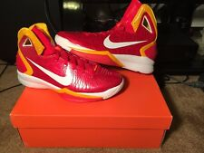 New Nike Hyperdunk 2010 China Edition Comet Red White Del Sol Yellow size 10