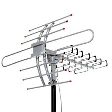 Outdoor Amplified Antenna Digital HD TV 150 Mile 360 Rotor UHF/VHF/FM 1080P HDTV