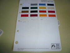 1983 Chevrolet GMC Truck Color Chips -