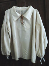 RENAISSANCE MEN'S  MUSLIN SHIRT PEASANT/PIRATE SCA LARP COSPLAY HUGE SIZE!!