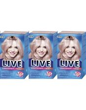 Schwarzkopf Live Lightener And Twist 101 Cool Rose Long Last Hair Colour Dye x3