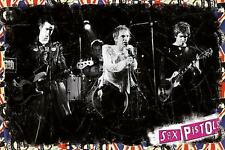 """SEX PISTOLS POSTER """"LIVE ON STAGE"""""""
