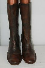 Mi Bottes STEPHANE GONTARD Originales  Cuir Marron Marbré T41 TBE
