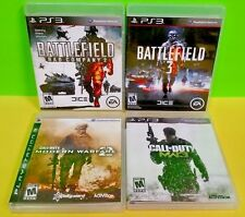 Battlefield 2 & 3 , Call of Duty MWF 2 & 3 Playstation 3 PS3 Complete Warfare