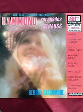 GEORGE BLACKMORE: HAMMOND SERENADES STRAUSS 1975 Ad-Rhythm LP ARPS1024