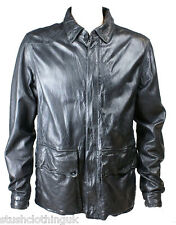 Luke 1977 Men's Leather Zip Up Jacket Black (LKJK001)