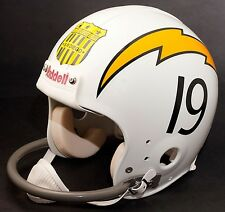 """SAN DIEGO CHARGERS Football Helmet """"ALL-AMERICAN CITY"""" Shield Decal/Sticker"""