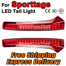 Pair Red LED Rear Pillar Lights For Kia Sportage Brake Tail Lamp 2013 2014 2015