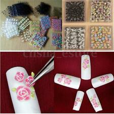 30 Sheets Flower 3D Nail Art Transfer Stickers Decals Manicure Decoration Tips