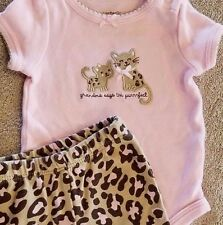 CARTER'S NEWBORN 2PC GRANDMA SAYS I'M PURRFECT KITTY OUTFIT ADORABLE REBORN