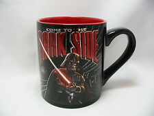 Star Wars Come to the Dark Side Laser Print Coffee Cup Mug 14 Oz.Black Red New