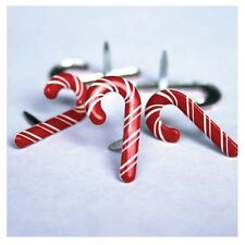 Eyelet Outlet Brads - CANDY CANES Pack of 12 - Scrapbooking / cards - Christmas