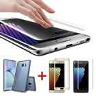 Galaxy Note 7 (Free Case) Full Cover Tempered Glass Screen Protector For Samsung