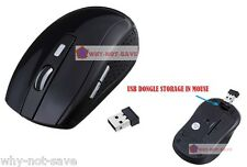 black Wireless Optical mouse Mini usb receiver for Dell Toshiba Apple Laptop PC