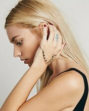 Free People Draped Chain Palm Cuff W/ Pearl Beading HandPiece Jewelry Sold Out