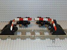 LEGO® Eisenbahn 4 Prellböcke Prellbock schwarz mit Puffer+Magnet 9V 4,5V 12V