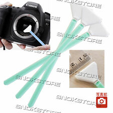 3x KIT SWAB PULIZIA SENSORE CCD CMOS DIGITAL CAMERA CLEANING SENSOR 23mm SINGLE