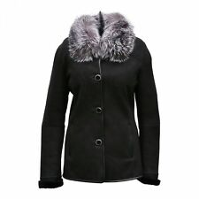 Sheepskin jacket - TALIA Women's Leather Fur Fox Collar Winter