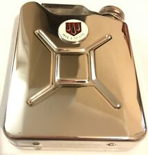 HILLMAN Car Petrol Can / Jerry Can Stainless Steel 5oz Drinking Hip Flask