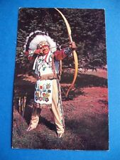 WHITE TAIL LODGE NOELVILLE ONTARIO CANADA AN OLD INDIAN SKILL VINTAGE POSTCARD
