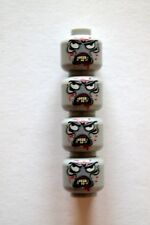 4 Custom Zombie Monster Minifigure Heads Machine Printed on LEGO Parts